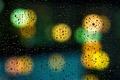 Picture drops, wet, glass, lights, macro, bokeh