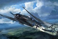 Picture Focke Wulf, Fw 190, the Germans, figure, Luftwaffe, the plane, fighter