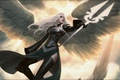 Picture girl, light, flight, hope, wings, angel, Jason Chan, Magic The Gathering, Avacyn Angel of Hope