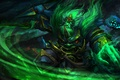 Picture Wraith King, beauty, weapons, art, green, Dota 2, Ostarion, claws