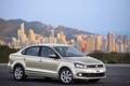 Picture sedan, asphalt, city, the city, wheels, front, blur, KAMA Euro, alloy wheels, polo, volkswagen, Polo, ...
