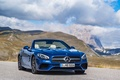 Picture the sky, clouds, mountains, blue, Mercedes-Benz, convertible, Mercedes, R231, SL-Class