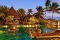 Picture Magnificent, the evening, resort, resort, Mauritius, pool, restaurant