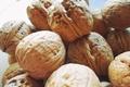 Picture golden, macro, walnuts