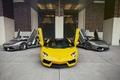 Picture Lamborghini, Supercars, Yellow, Aventador, Gray, LP700-4, Trio