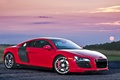 Picture supercar, audi r8, red