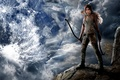 Picture the moon, look, Tomb Raider, girl, game, Lara Croft