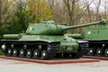 Picture weapons, pedestal, Park, tank