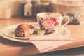 Picture saucer, croissant, Cup
