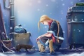 Picture snow, art, milk, Cammy, Street Fighter, the city, street, girl, cats