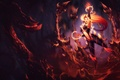 Picture thorns, flame, girl, girl, lava, spikes, fire, Zyra, flame, Zira, by YumeDust, Zyra, the thorns, ...