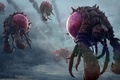 Picture monsters, clouds, art, nathan boyd, rain, flight, bugs, starcraft 2, insects, aliens