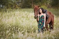 Picture walk, horse, girl, nature, Asian