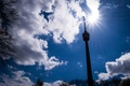 Picture Germany, Sun, Sunshine, Spring, Clouds, Stuttgart, TV Tower, TV tower