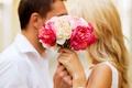 Picture love, joy, happiness, pair, happy, flowers, kiss, couple, romance
