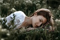 Picture Dima Begma, stay, girl, summer, grass, Dasha
