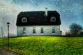 Picture Home, Wallpaper, Green, Blue Sky, Traditional, Thatched Roof, Landscape, Street Lamp, Irish, Grass