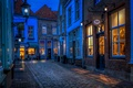 Picture Netherlands, street, Netherlands, Heusden, night, lights, HDR