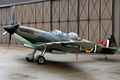 Picture the airfield, training aircraft, Spitfire Tr.9, British