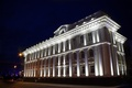 Picture the building, white, the evening, 2016, Saransk, Mordovia, July, center