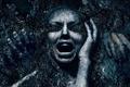 Picture cinema, girl, horror, panic, woman, movie, face, scream, cemetery, hair, death, fear, hands, film, teeth, ...