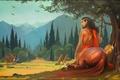 Picture art, GaudiBuendia, Alexander Khitrov, fantasy, centaur