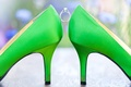 Picture green, ring, shoes, wedding