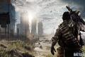 Picture the sky, soldiers, machine gun, Battlefield 4