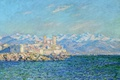 Picture sea, snow, landscape, mountains, France, picture, Claude Monet, Antibes