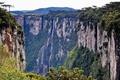 Picture Waterfall, height, Canyon, greens, National Park, Rocks, tourism, Mountains, Brazil, open, Lençóis Maranhenses