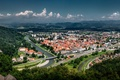 Picture Celje, Celje, mountains, panorama, Slovenia, Slovenia, building, river