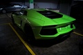 Picture green, green, Parking, lamborghini, back, aventador, lp700-4, Lamborghini, aventador