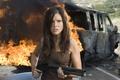 Picture girl, The Hitcher, Companion, Sophia Bush, fire, the explosion, the film