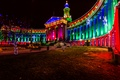 Picture lights, Denver, new year, night, decoration, Christmas, the city