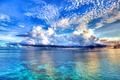 Picture the sky, clouds, the ocean, color, beauty, ships, dal, horizon