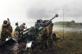 Picture weapons, war, soldiers, howitzer
