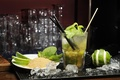 Picture ice, Mojito, drink, sugar, cocktail, glass, lime, mint
