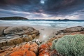 Picture sea, the sky, water, clouds, clouds, nature, stones, the ocean, Australia, Wilsons Promontory, Chris Wiewiora ...