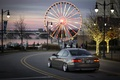 Picture bridge, the city, river, people, branch, street, boats, BMW, Christmas, wheel, Ferris wheel, back, 335i, ...