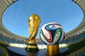 Picture the ball, football, brazuca, 2014, Brazil, the world Cup, stadium, Cup, the sky, bowl