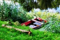 Picture boat, nature, green