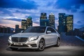 Picture BlueTEC, S300 W222, metallic silver, Mercedes-Benz, 2014, lights, the city