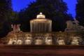Picture light, landscape, night, Germany, Munich, fountain