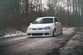 Picture winter, white, tuning, volkswagen, white, Golf, golf, gti, stance