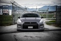 Picture matte black, gate, Nissan, nissan, r35, GT-R, barbed wire, the front, gt-r