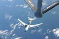 Picture the ocean, refueling, UNITED STATES AIR FORCE, AWACS E-3 AWACS