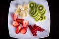 Picture currants, fruit salad, kiwi, dessert, fruits, plate, berries, berries, fruit, fresh, banana, strawberry