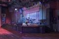 Picture scene, guitar, club, column, drum, art, night club