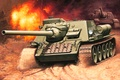 Picture figure, USSR, the second world, SAU, Enzo Maio, self-propelled artillery, tank destroyers, SU-100