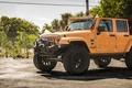 Picture jeep wrangler, big rims, offroad, wheels, tires, sahara, orange, 4x4, jeep, monster